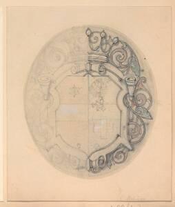 Ein unvollendeter Entwurf für ein Wappen (vom Bearbeiter vergebener Titel) von Groner, Anton