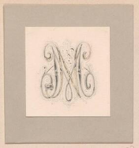 Monogramm Entwurf: MN (vom Bearbeiter vergebener Titel) von Groner, Anton