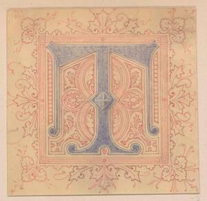Monogramm Entwurf: T (vom Bearbeiter vergebener Titel) von Groner, Anton