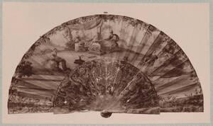 Fotografie eines italienischen Fächers aus dem Besitz der Witwe des Grafen Paul Palffy (vom Bearbeiter vergebener Titel) von Weinwurm, Antal
