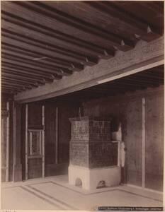 Fotografie eines Interieurs aus dem Schloss Fürstenberg, Vinschgau (vom Bearbeiter vergebener Titel) von Anonym