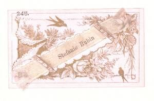 Rahmenkarte mit Seidenband von Rubin, Stefanie