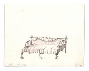 Entwurf für ein Canapé mit Geweihdekor (vom Bearbeiter vergebener Titel) von Danhauser, Joseph Ulrich
