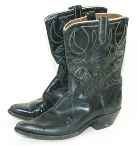 Cowboy Boot (Paar) - schwarz von Anonym