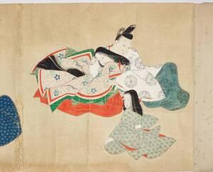 Bildrolle mit erotischen Szenen im Stile der Heian-Zeit