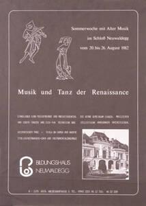 Musik und Tanz der Renaissance (Kurztitel) von Anonym