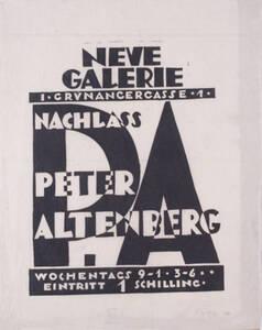 Nachlass Peter Altenberg (Kurztitel) von Anonym