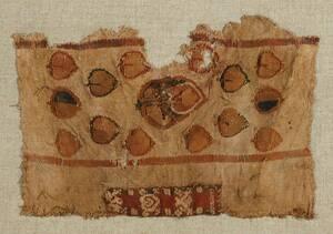 Zierstreifen aus bunten Blättern und Begleitstreifen sowie einer Ärmelborte (deskriptiver Titel) von Anonym