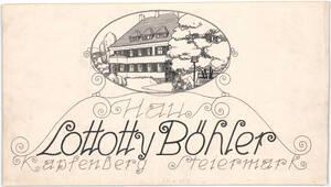 Visitenkarte Haus Lottotty Böhler Kapfenberg Steiermark von Anonym