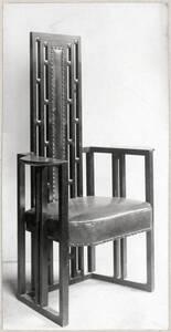 Armsessel für das Atelier von Gustav Klimt, Wien VIII, Josefstädter Straße 21 von Hoffmann, Josef