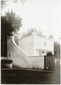 Seitenansicht, Gartenpavillon, Landhaus Heinrich Böhler, Baden bei Wien, Pelzgasse 11 von Anonym