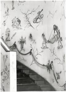 Treppenaufgang in den ersten Stock, Textilabteilung der Wiener Werkstätte, Wien I, Kärntner Straße 32 von Reiffenstein, Carl Theodor