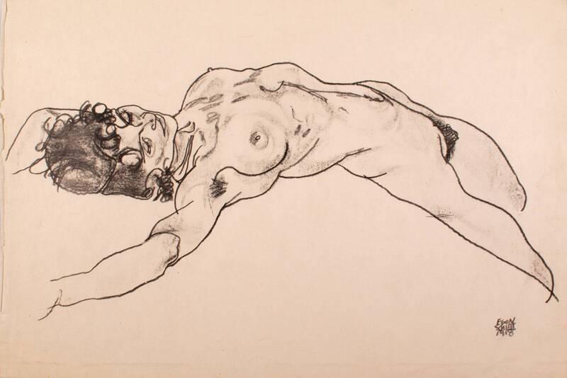 Liegender weiblicher Akt von Schiele, Egon