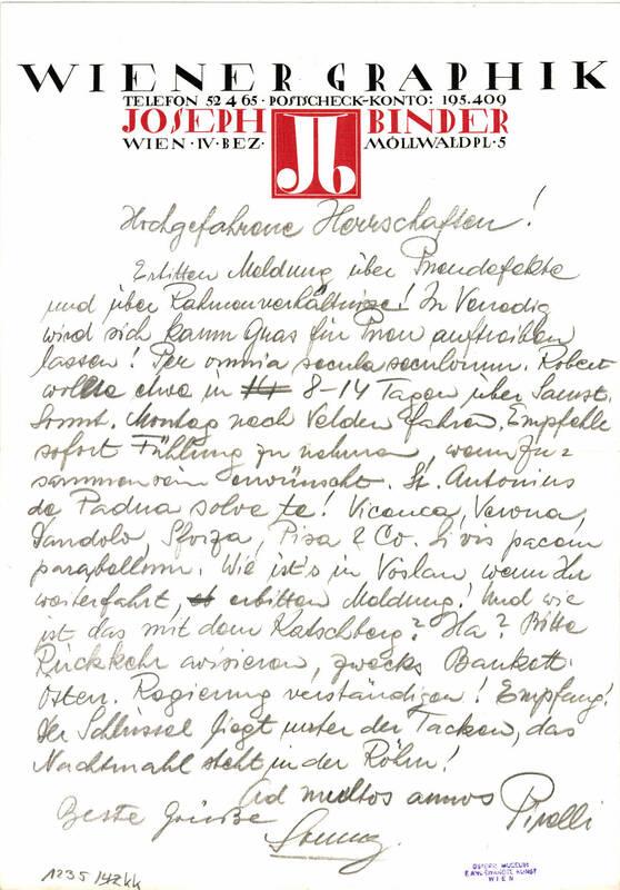 Brief von Anonym