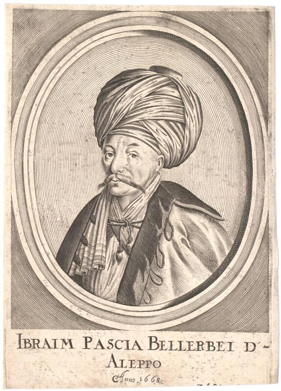 Portrait von Ibraim, Pascha Ballerbei von Aleppo von Boener, Johann Alexander