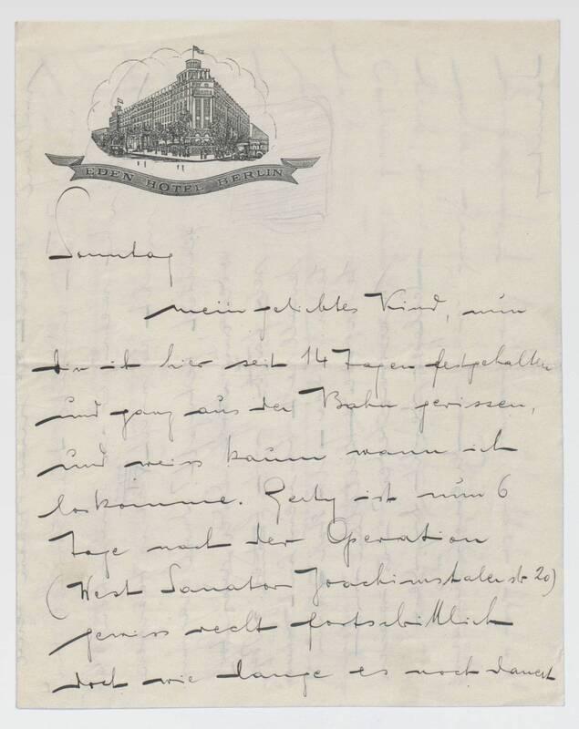 Brief von Ernst Deutsch-Dryden an Hello von Deutsch-Dryden, Ernst