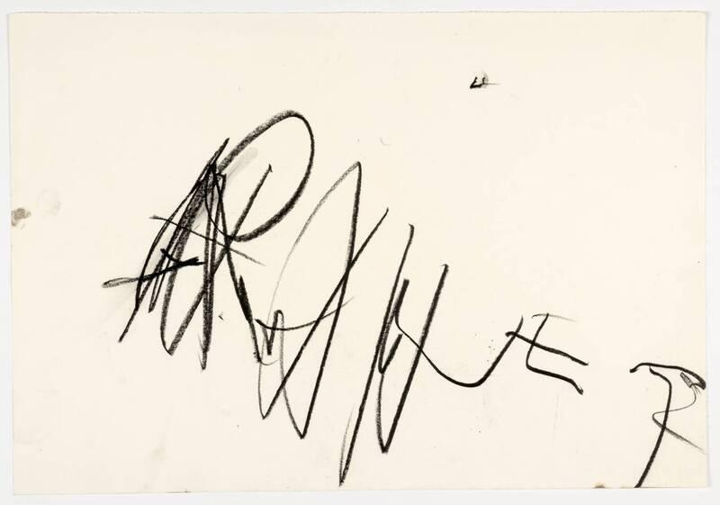ohne Titel (Signaturzeichnung) von Rainer, Arnulf
