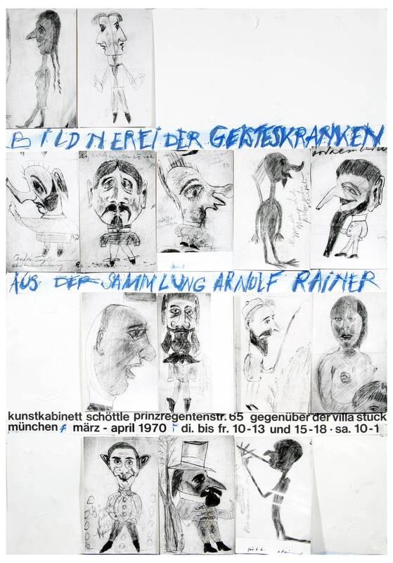 Bildnerei der Geisteskranken aus der Sammlung Arnulf Rainer von Rainer, Arnulf
