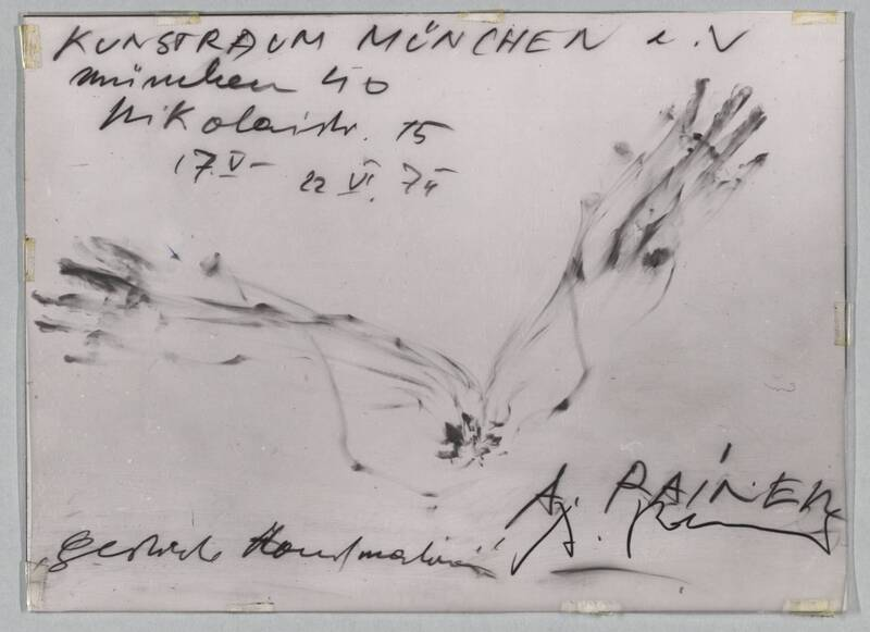 Gestische Handmalereien von Rainer, Arnulf