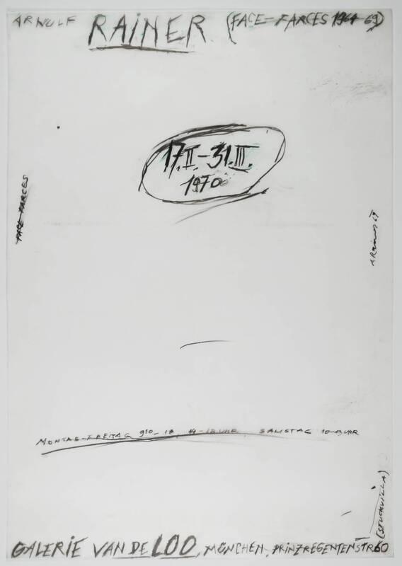 Face Farces 1965 - 1969 von Rainer, Arnulf