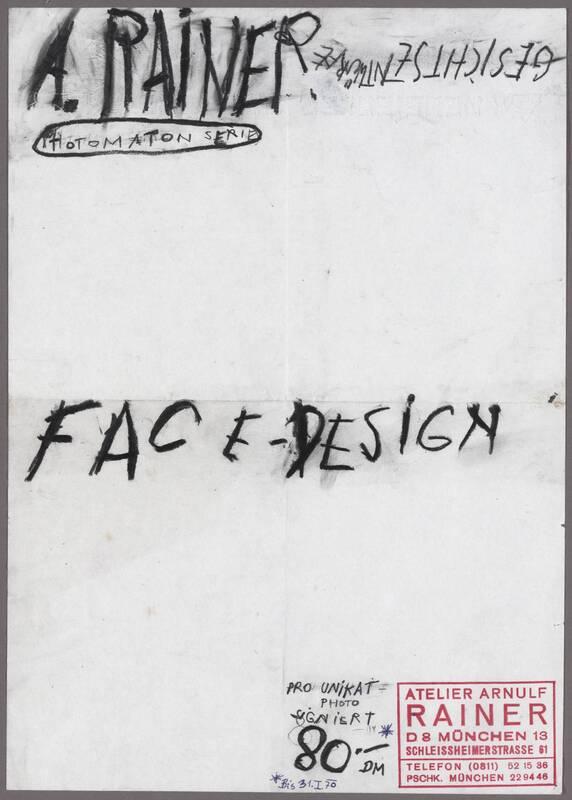 Face-Design, Gesichtsentwürfe von Rainer, Arnulf