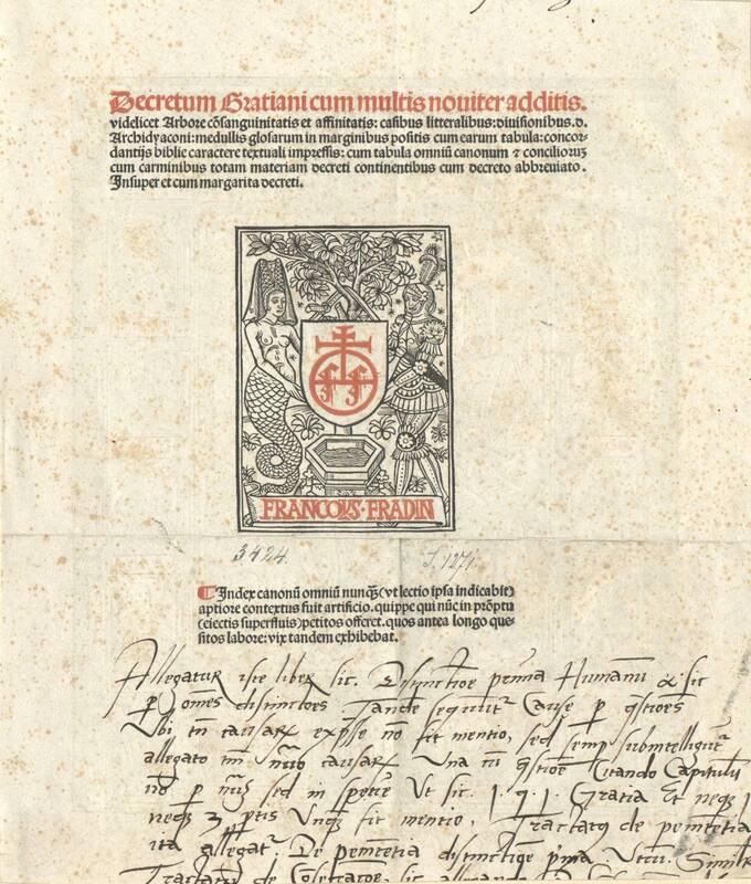 Signet des Francois Fradin, auf der Rückseite Darstellung der Kirchenväter von Anonym