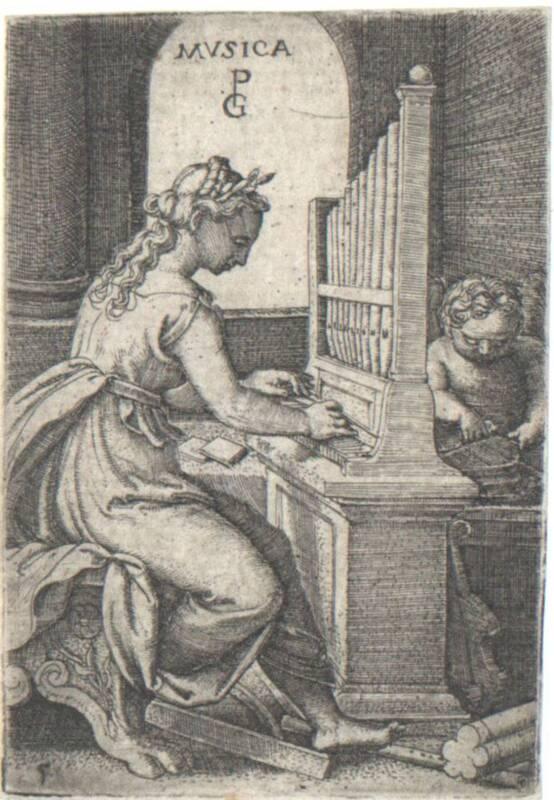 Musica, Blatt 5 aus der Folge der sieben freien Künste von Pencz, Georg