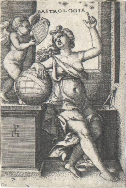 Astrologia, Blatt 7 aus der Folge der sieben freien Künste von Pencz, Georg