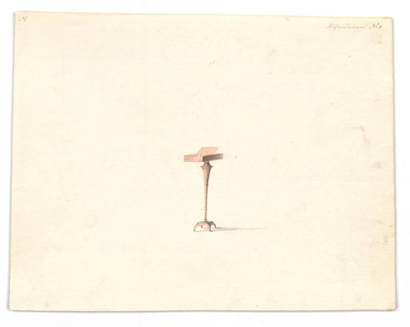 Entwurf für einen Standaschenbecher von Danhauser, Joseph Ulrich