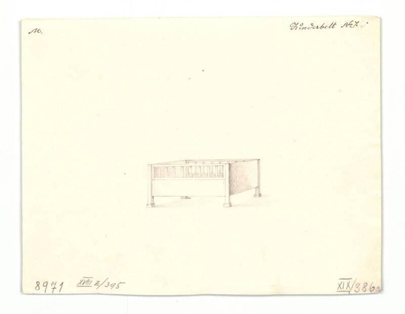 Entwurf für ein Kinderbett von Danhauser, Joseph Ulrich