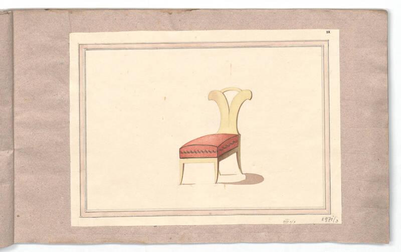 Entwurf für Sessel N° 85 von Danhauser, Joseph Ulrich