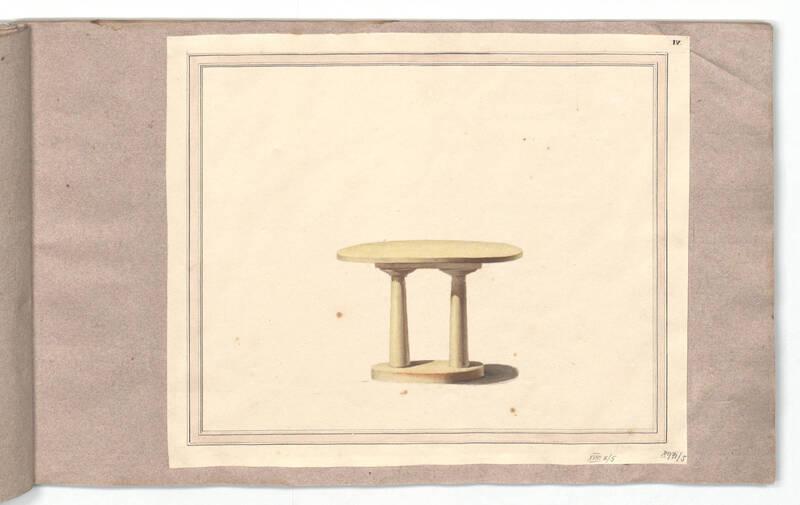 Entwurf für einen Canapétisch von Danhauser, Joseph Ulrich