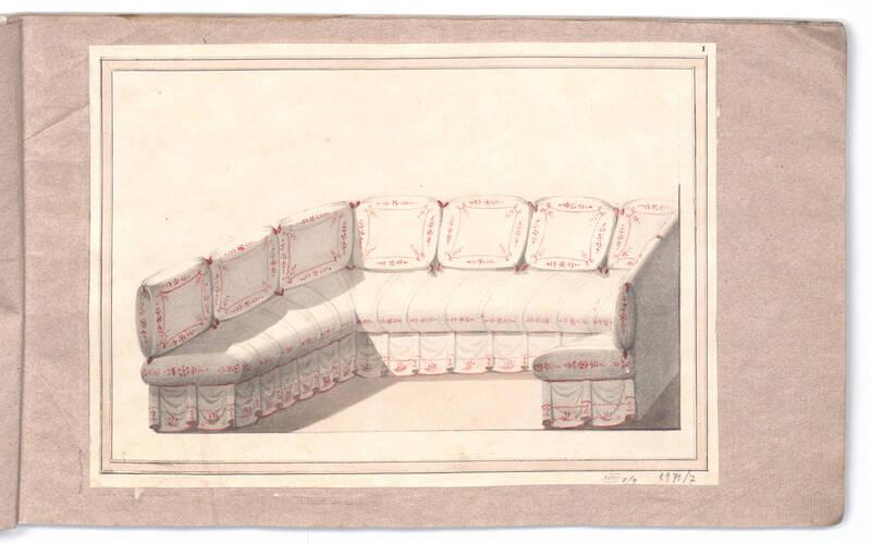 Entwurf für einen Eckdivan von Danhauser, Joseph Ulrich