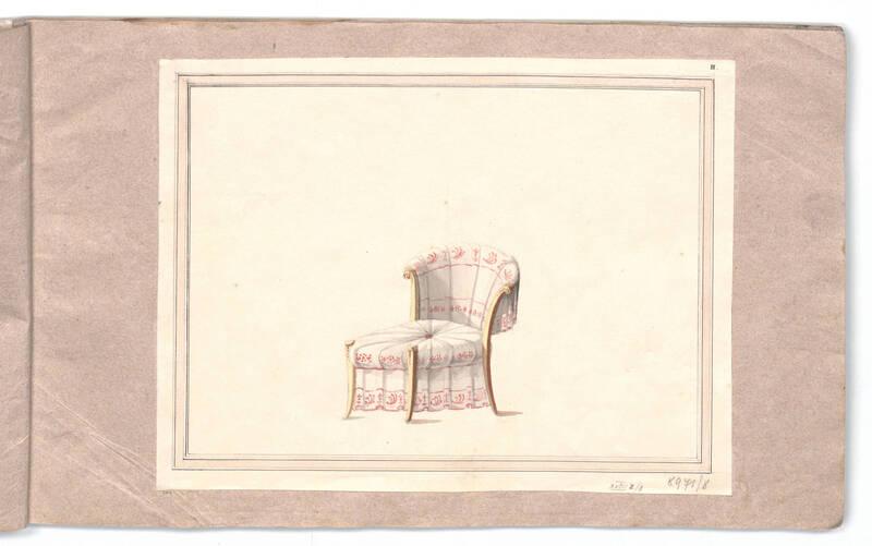 Entwurf für einen Sessel von Danhauser, Joseph Ulrich