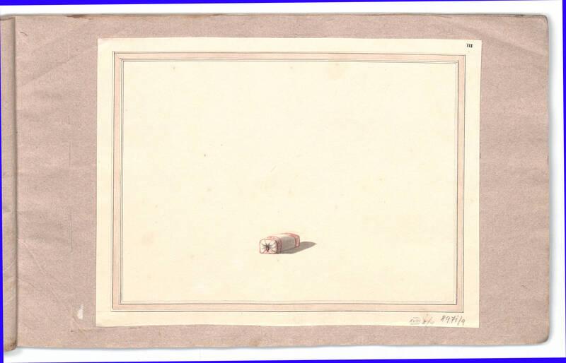 Entwurf für Fußschemel N° 8 von Danhauser, Joseph Ulrich