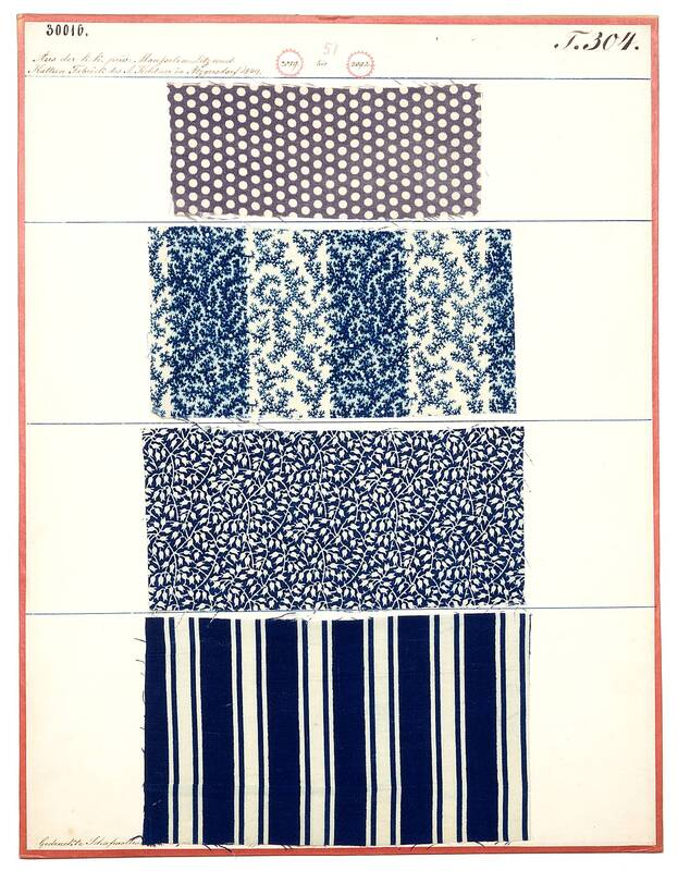 Gedruckte Schafwollwaare (Damenkleiderstoffe) von Fichtner, I.